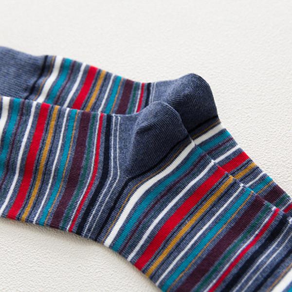 Men Women Vintage Stripe Cotton Socks Causal Breathable Deodorant Middle Tube Socks