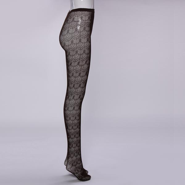 Velvet Lace Openwork Mesh Bottoming Pantyhose Stockings