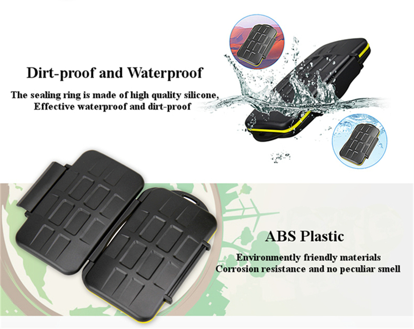JJC MC-3 Waterproof Dirtproof Portable CF SD MSPD XD Card Storage Box