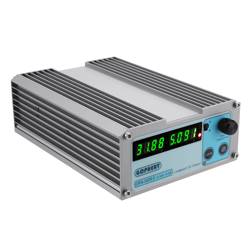 GOPHERT CPS-3205 0-32V 0-5A Portable Adjustable DC Power Supply 110V/220V CPS-3205II Upgrade Version