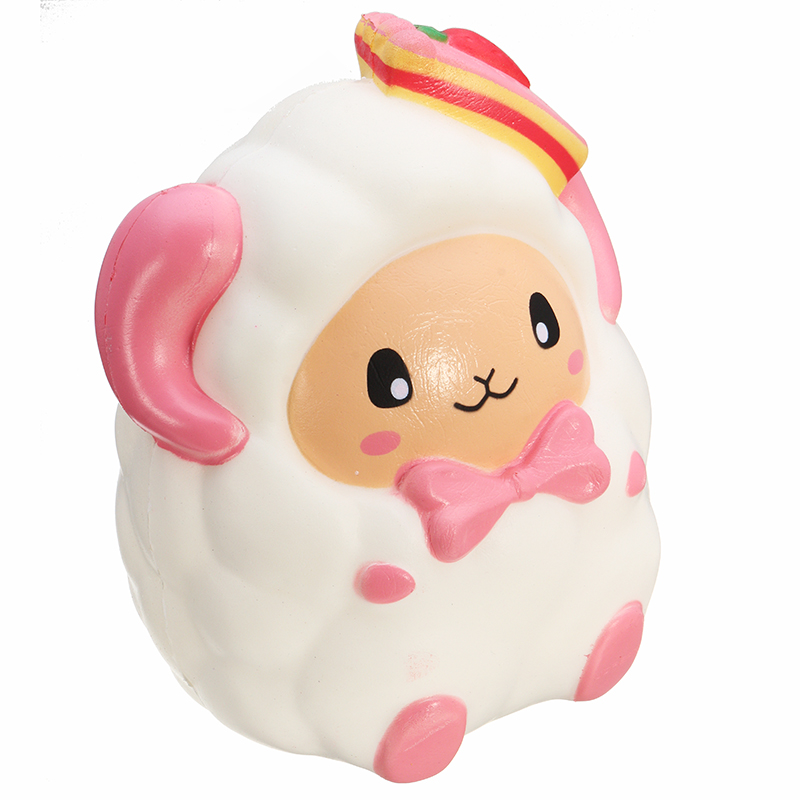 SquishyShop Huge Strawberry Sheep Squishy 19CM Jumbo Slow Rising Collection Gift Decor Giant Toy