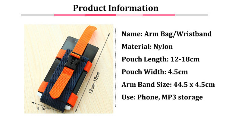 AOTU 5.5 Inch Sports Arm Bag Pouch Run Jogging Cell Phone Band Pack Storage Holder For iphone 7plus
