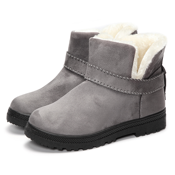 Women Fur Lining Snow Ankle Boots