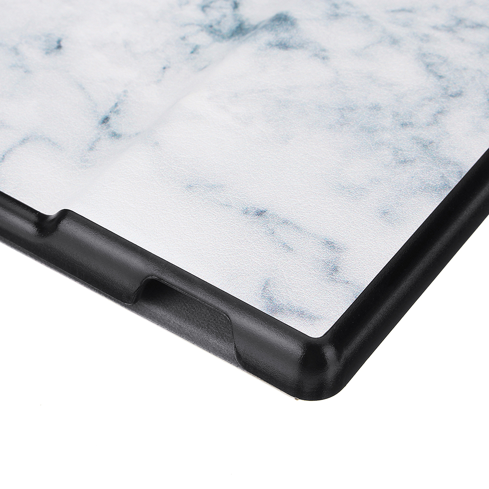 PU+PC Smart Sleep Marble Pattern Protective Cover Case For Oasis Kindle 7 Inch Ebook Reader