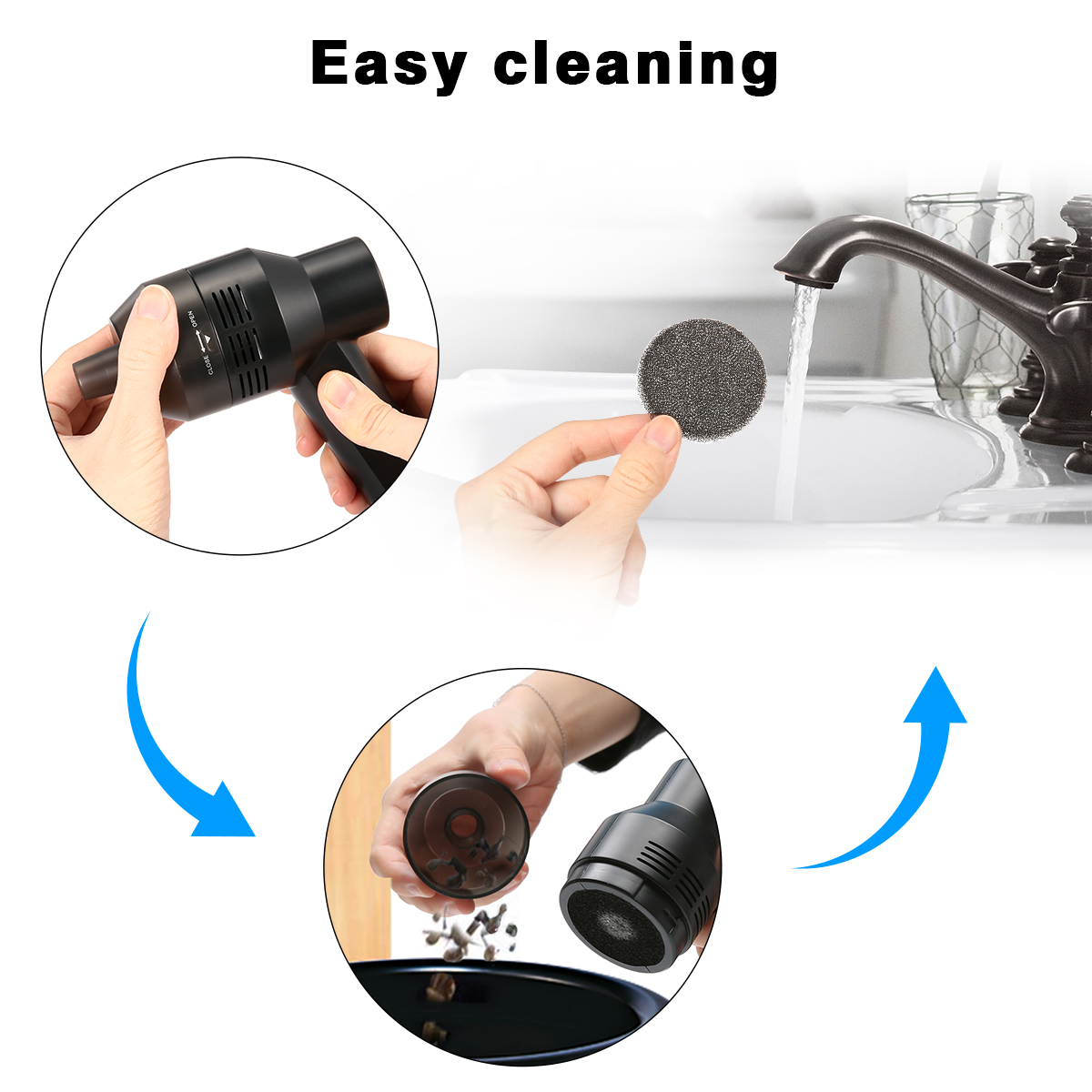 Rechargeable Usb Mini Vacuum Cleaner For Pc Keyboard Dust Cleaning Shipping Methods