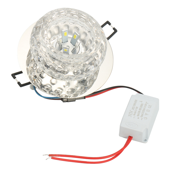 3W 5W Modern Round Shape Warm White Pure White Crystal LED Ceiling Light Chandelier Downlight