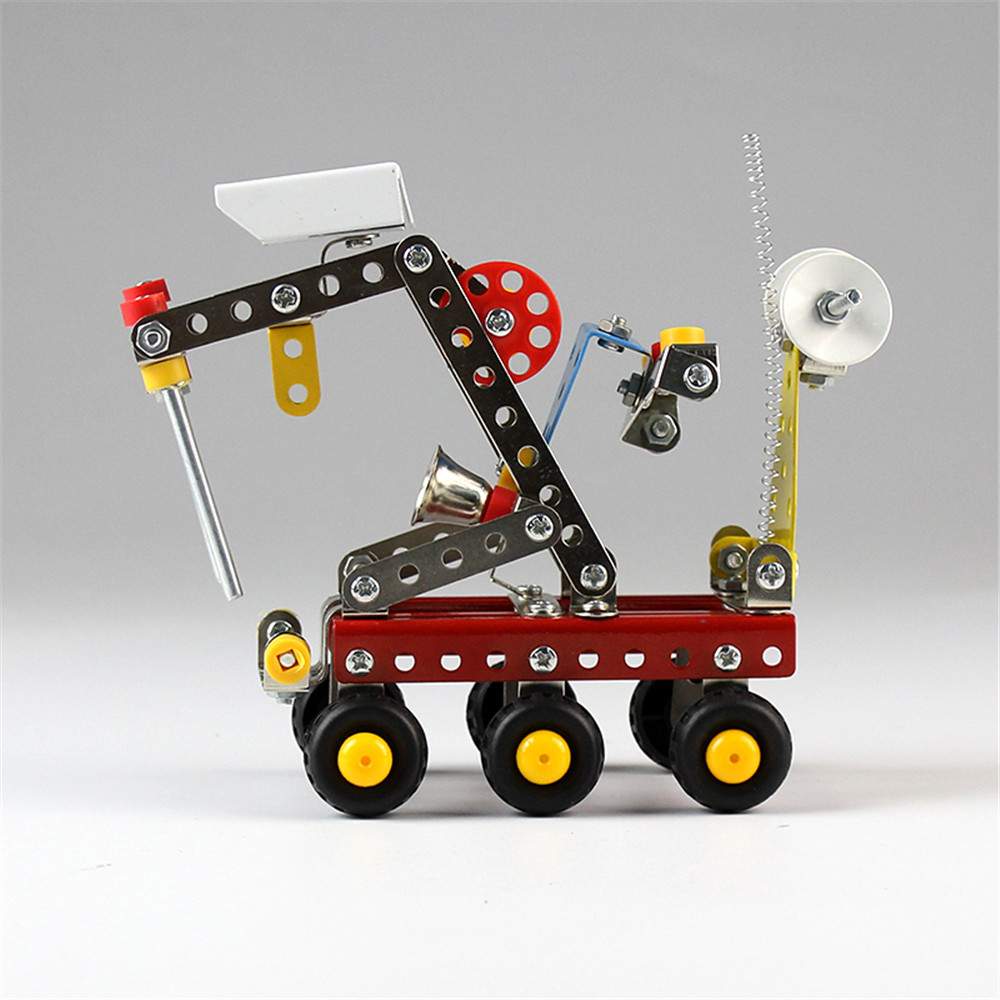 MoFun Metal Blocks Toy Space Planet Rover Science Fiction Series Model DIY Toys 189 PCS With Tools