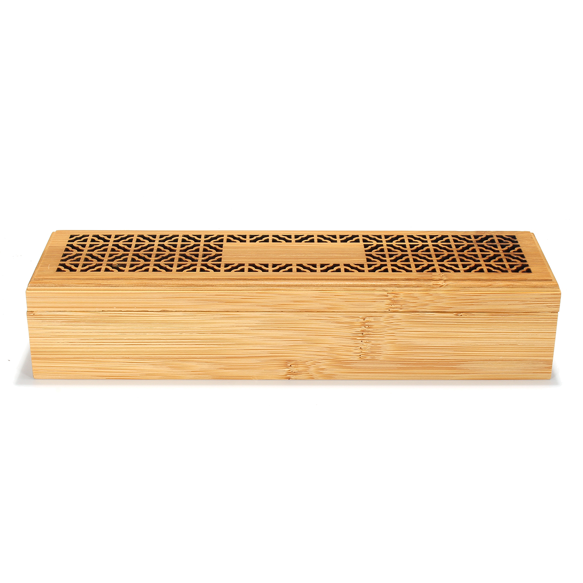 Ancien Bamboo Sandalwood Incense Stick Holder Storage Joss Box Burner Home Decor