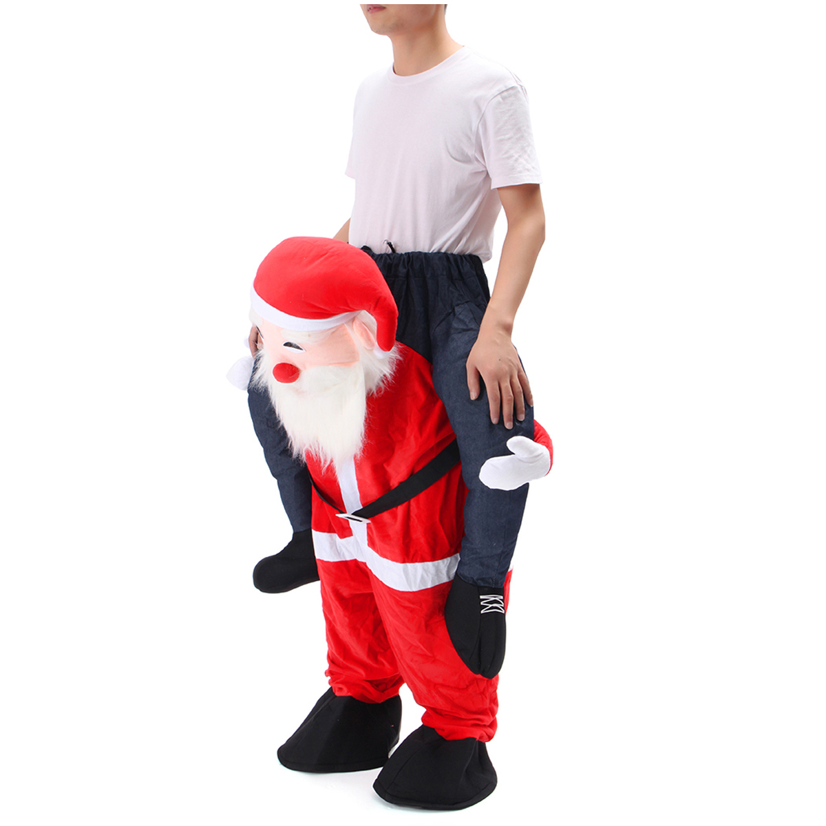 Christmas Unisex Dwarf Carry Me Fancy Piggy Back Ride On Dress Mascot Costume Party Pants