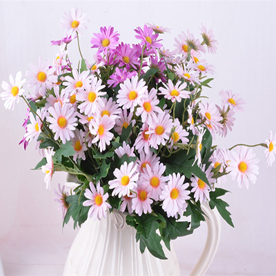 10PCS/ Artificial Korean Small Daisy Flowers Home Furnishing Garden Style Decorative Daisy Simulation Props Flowers for Home Indoor Festival Wedding Decorations