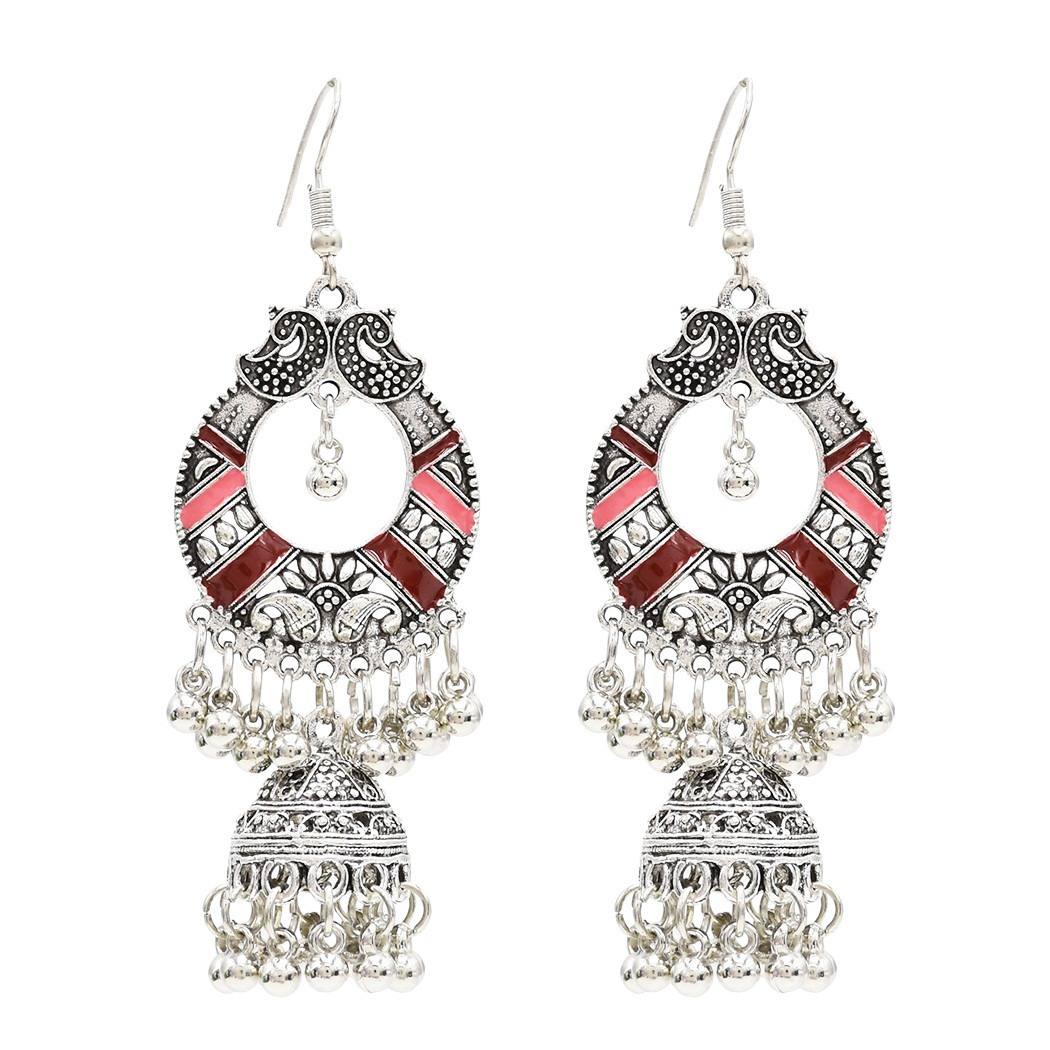 Bohemian Tassel Earring Hallow Bell Drop Earrings Retro