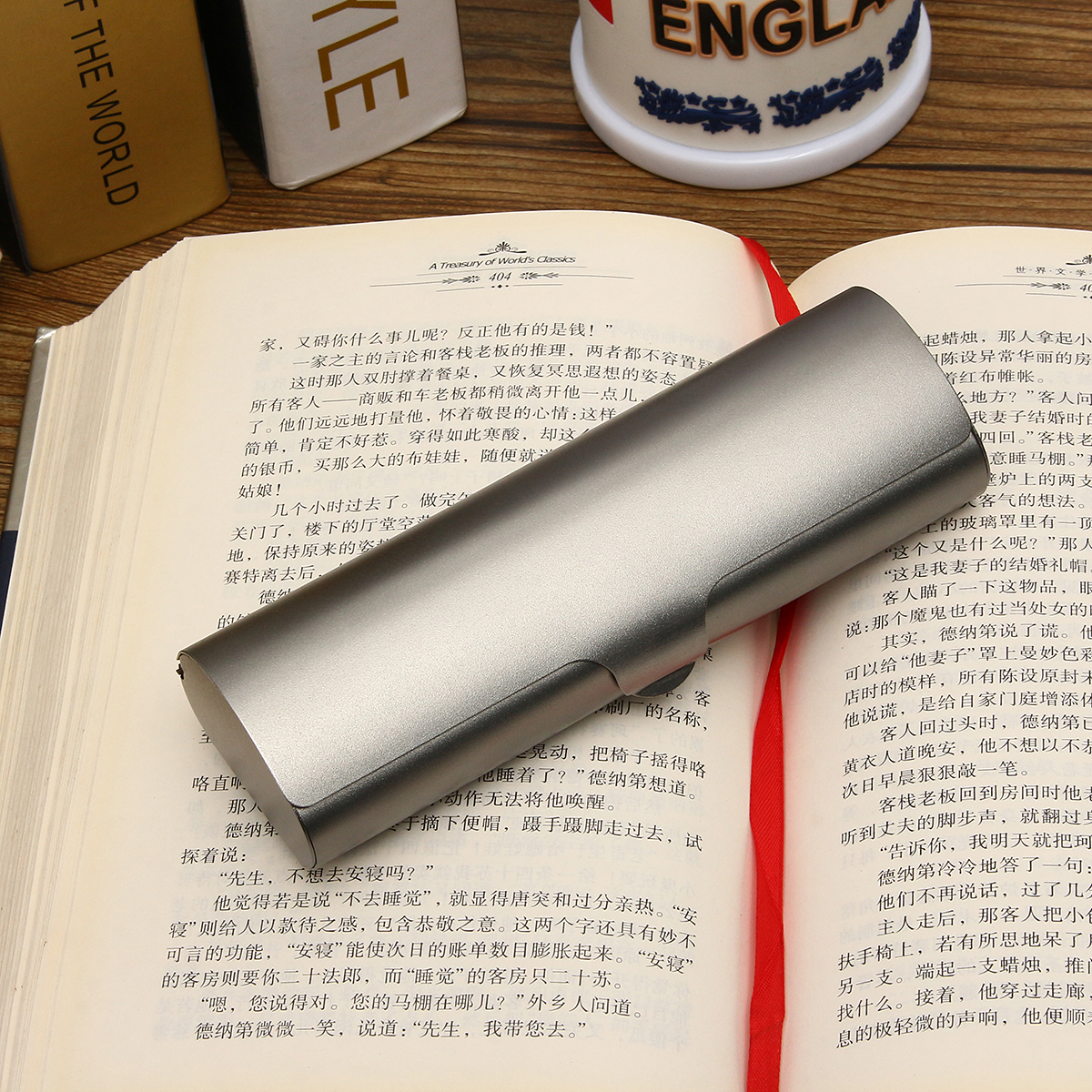 Frosted Matte Hard Metal Glasses Protection Eyeglasses Case Spectacles Box
