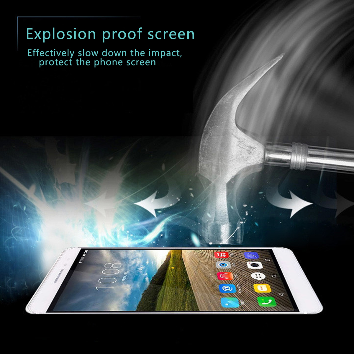 6.4'' 9H Hardess HD Tempered Glass Screen Protector Film For Lenovo PHAB 2