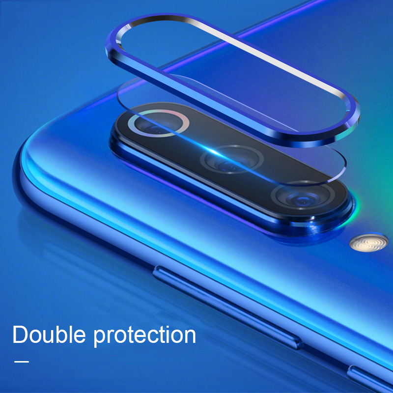 Bakeey™ Anti-scratch Metal Circle Ring + Tempered Glass Phone Camera Lens Protector for Xiaomi Redmi Note 7 / Note 7 Pro