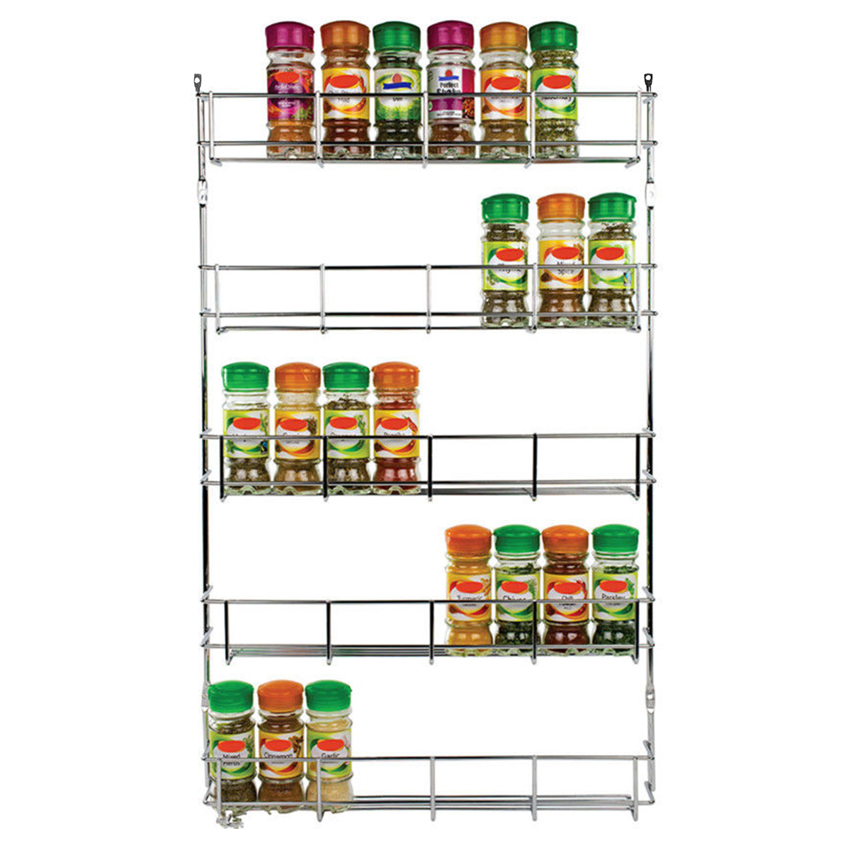 5 Tiers Kitchen Spice Rack Cabinet Organizer Wall Mount