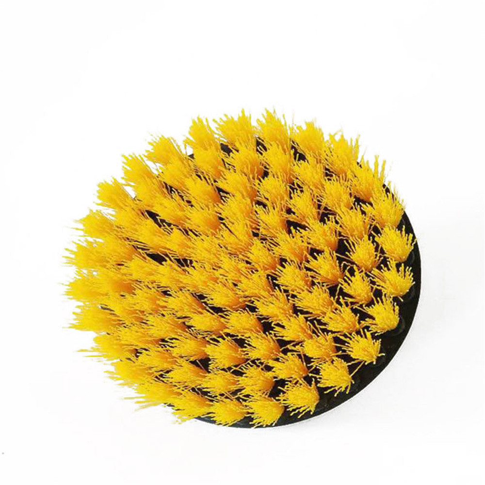 Bristle Electric Drill Brush 2 Inch Green 4 Inch Yellow Cleaning Brush for Dust Removal