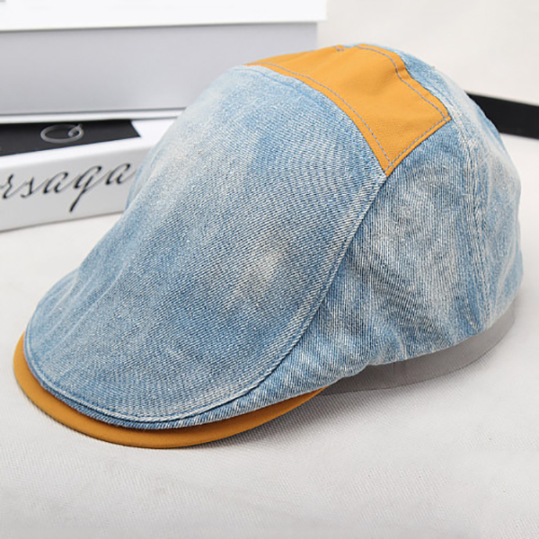 Men Women Fashion Cowboy Beret Hat Casual Summer Adjustable Sunscreen Visor Cap