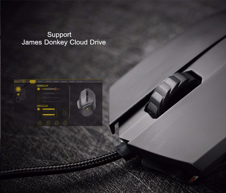 James Donkey 125M 5000DPI 6 Buttons USB Wired Optical Gaming Mouse for Laptop PC Gamers