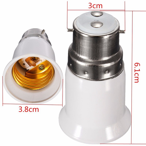 LED Converter Light Bulb Lamp Adapter B22 to E27 Base