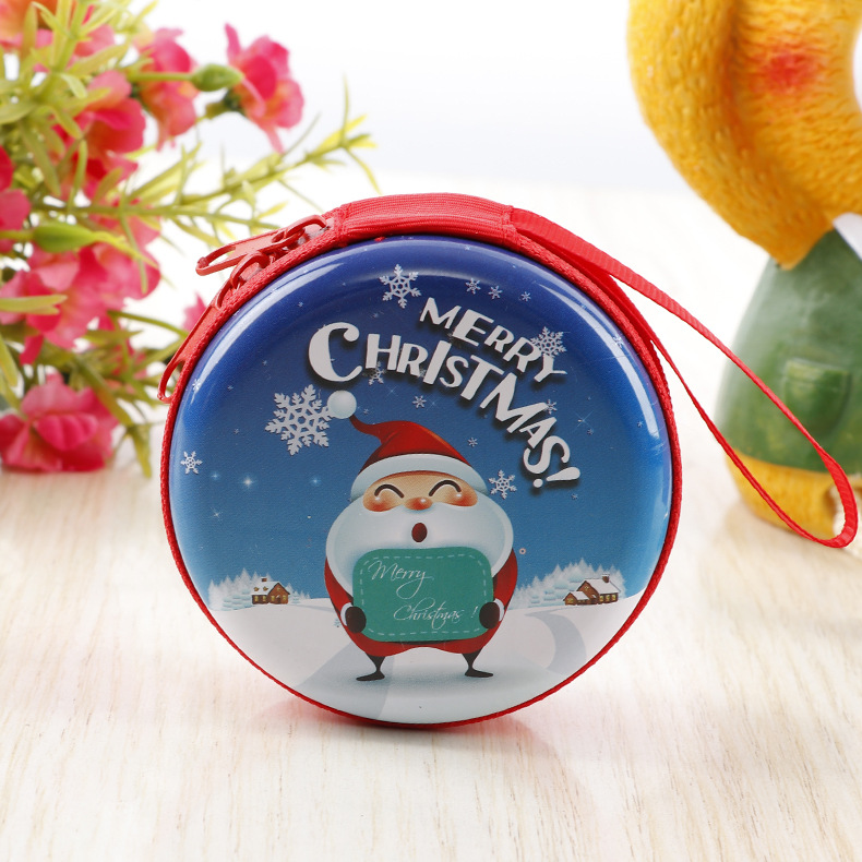 Christmas Decorations Round Tin Boxes Cookie Boxes Chocolate Cases Candy Boxes Display Box Packs