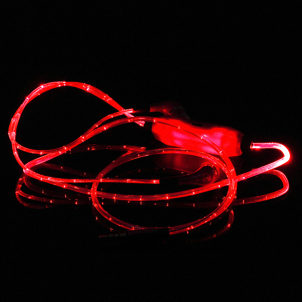 Glow LED Earphone With Microphone Dynamic Flashlight Stereo Earphone Earbud