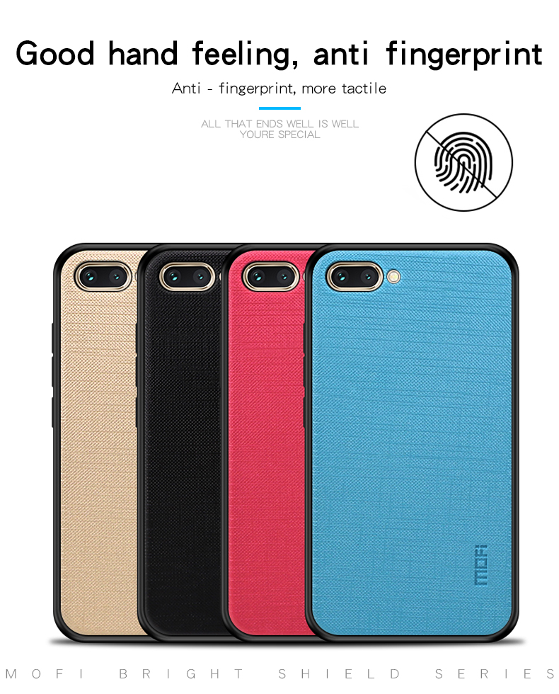 Mofi Shockproof Anti-slip PC + TPU Back Cover Protective Case for Huawei Honor 10