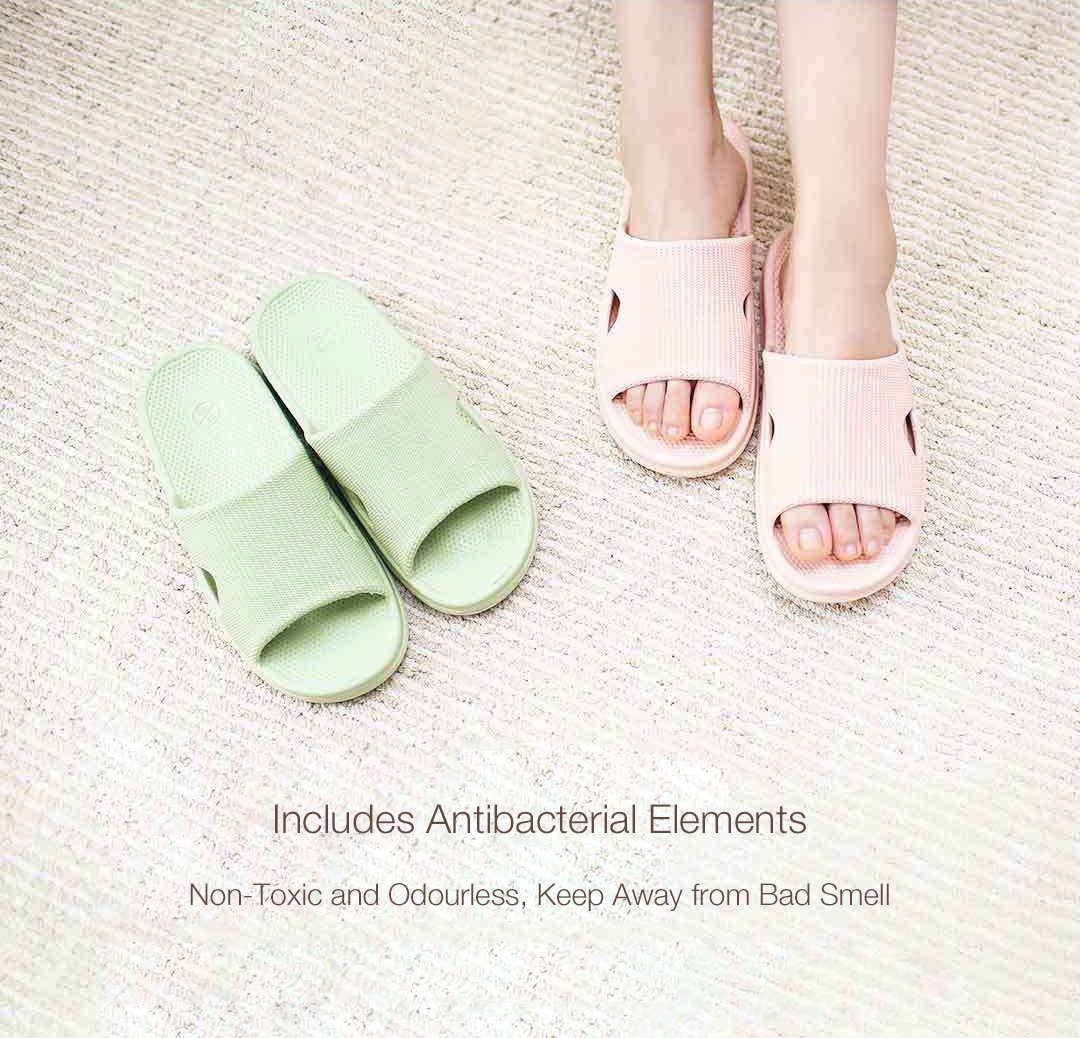 XIAOMI One Cloud Antiskid Safe Massage Antibacterial Quick Dry Soft Elastic Slippers For Home