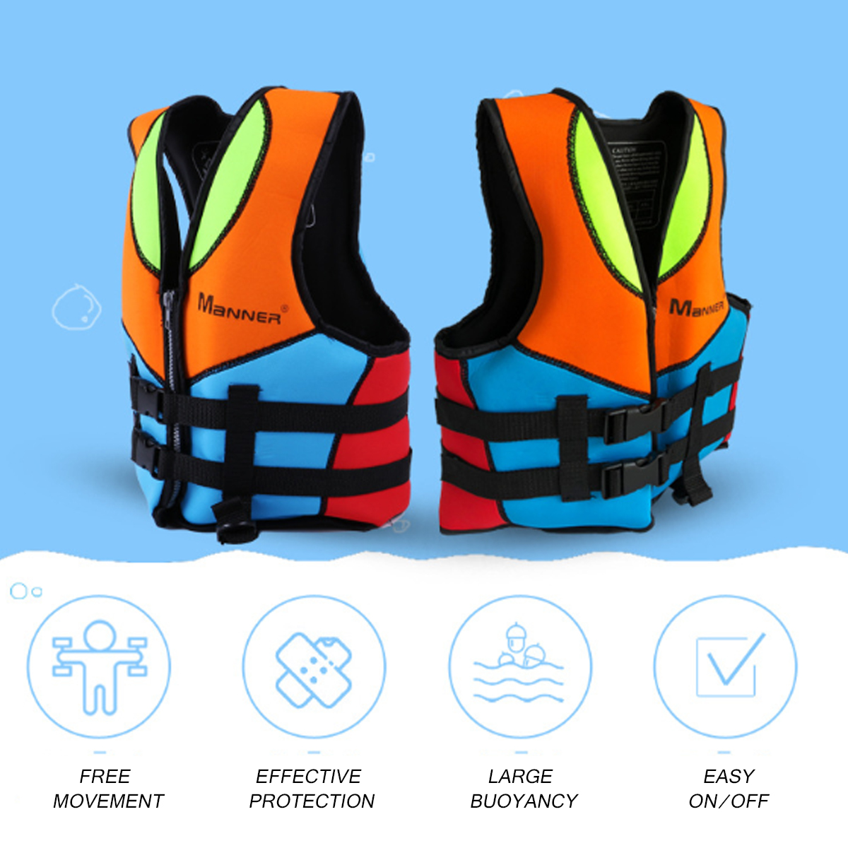 Kids Children Swimming Floatation Vest Life Jacket Boys Girls Safety Vest