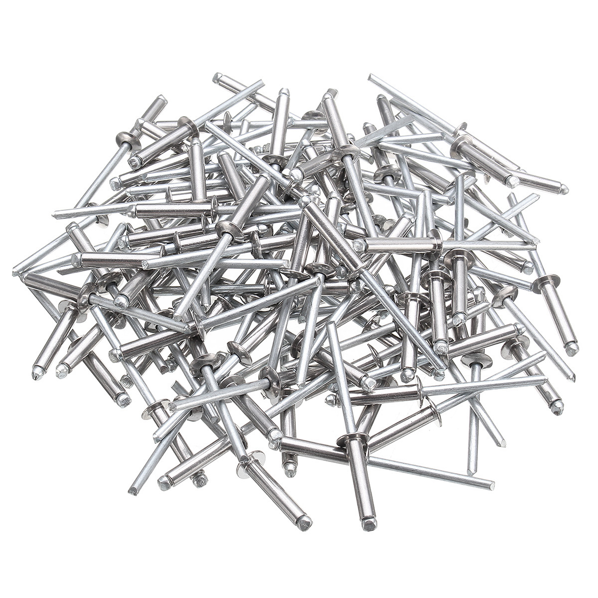 100Pcs M4 304 Stainless Steel Open End Blind Rivets Dome Head with Break Pull Mandrel Tools