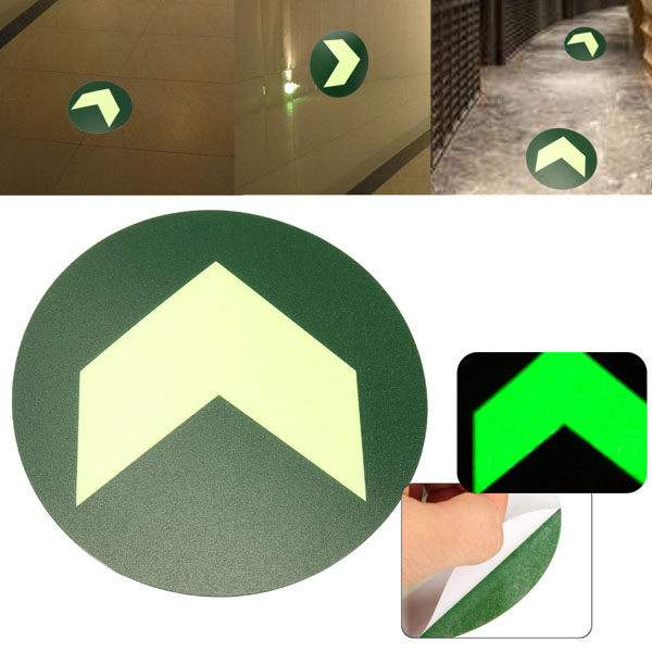 Luminous Emergency Fire Exit Warning Sign Wall Tattoo Stickers Safety Notice