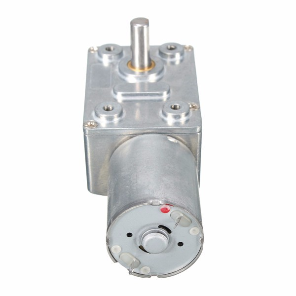 DC 12V Worm Geared Motor 0.6RPM Reversible Gear Reducer Turbo Motor