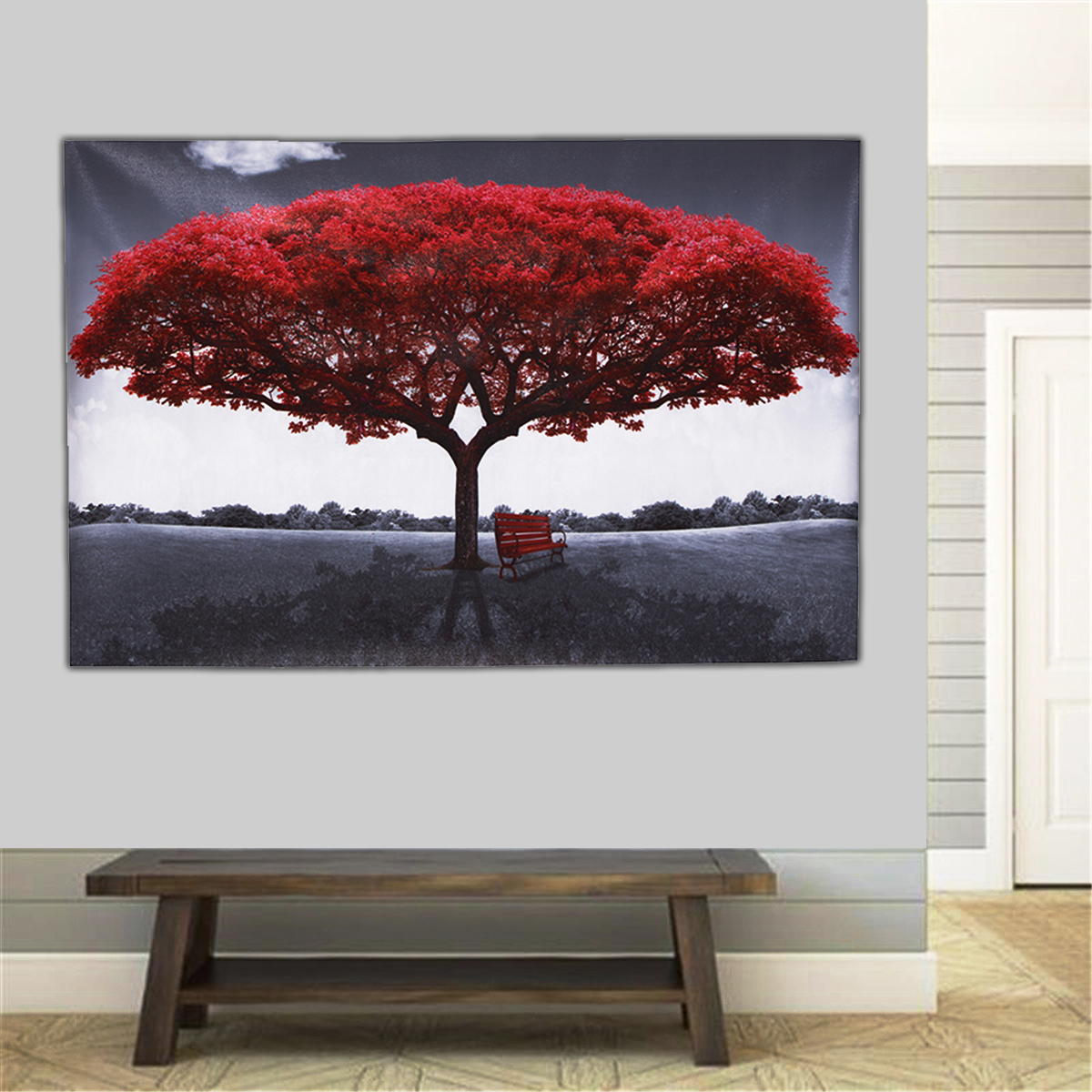 Large Red Tree Canvas Modern Home Wall Decor Art Paintings Picture Print No Frame Home Decorations