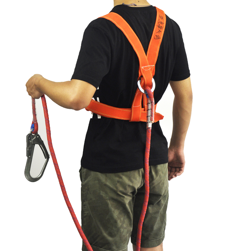 PP Fiber Single Hook Safety Belt 2/3M Safety Climbing Rope Anti-drop Hiking Protective Gear