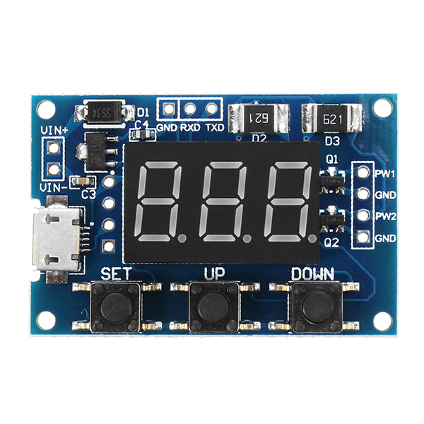 2 Channel PWM Generator Module Pulse Frequency Duty Cycle Adjustable Square Wave Rectangle Signal Generator For Stepper Motor Driver
