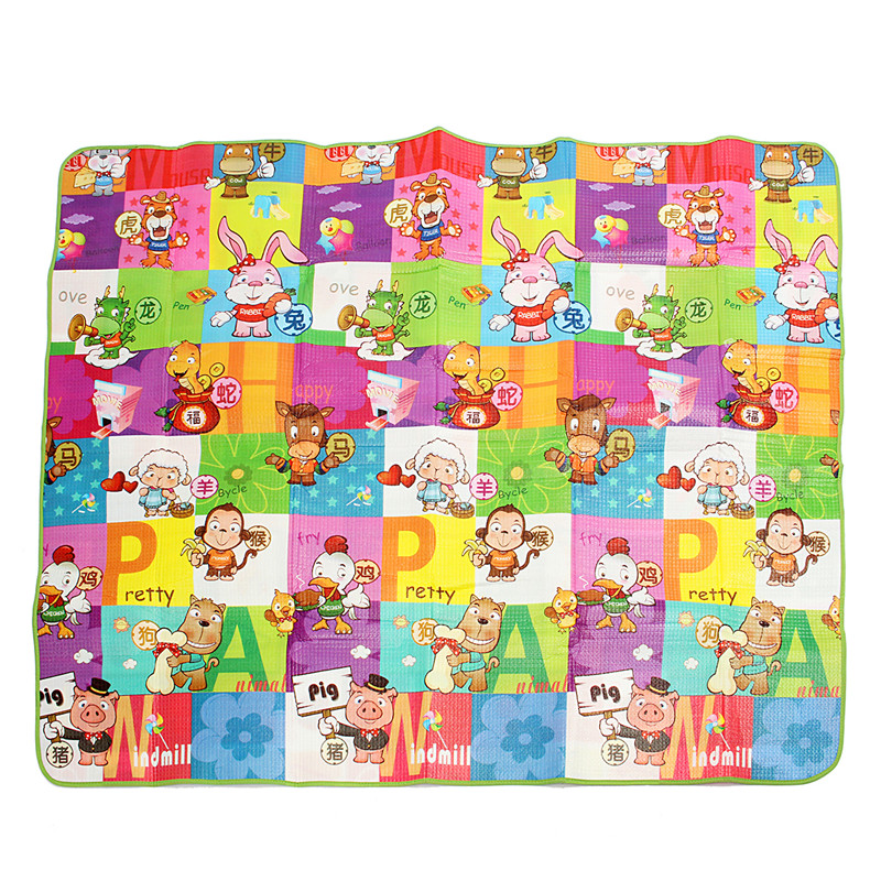 Baby Kids Toddler Play Mat Foam Soft Pad Gym Crawl Creeping Blanket Double Sides