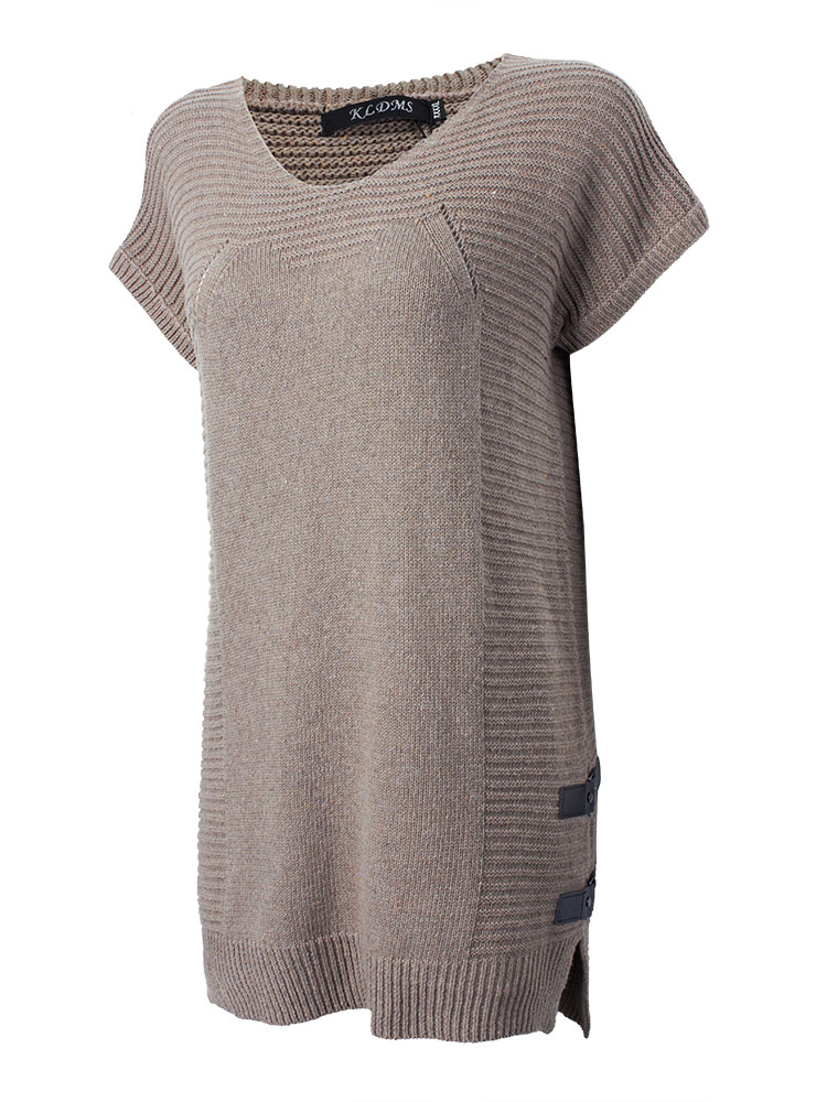 Women Casual Knit Round Neck Loose Dress