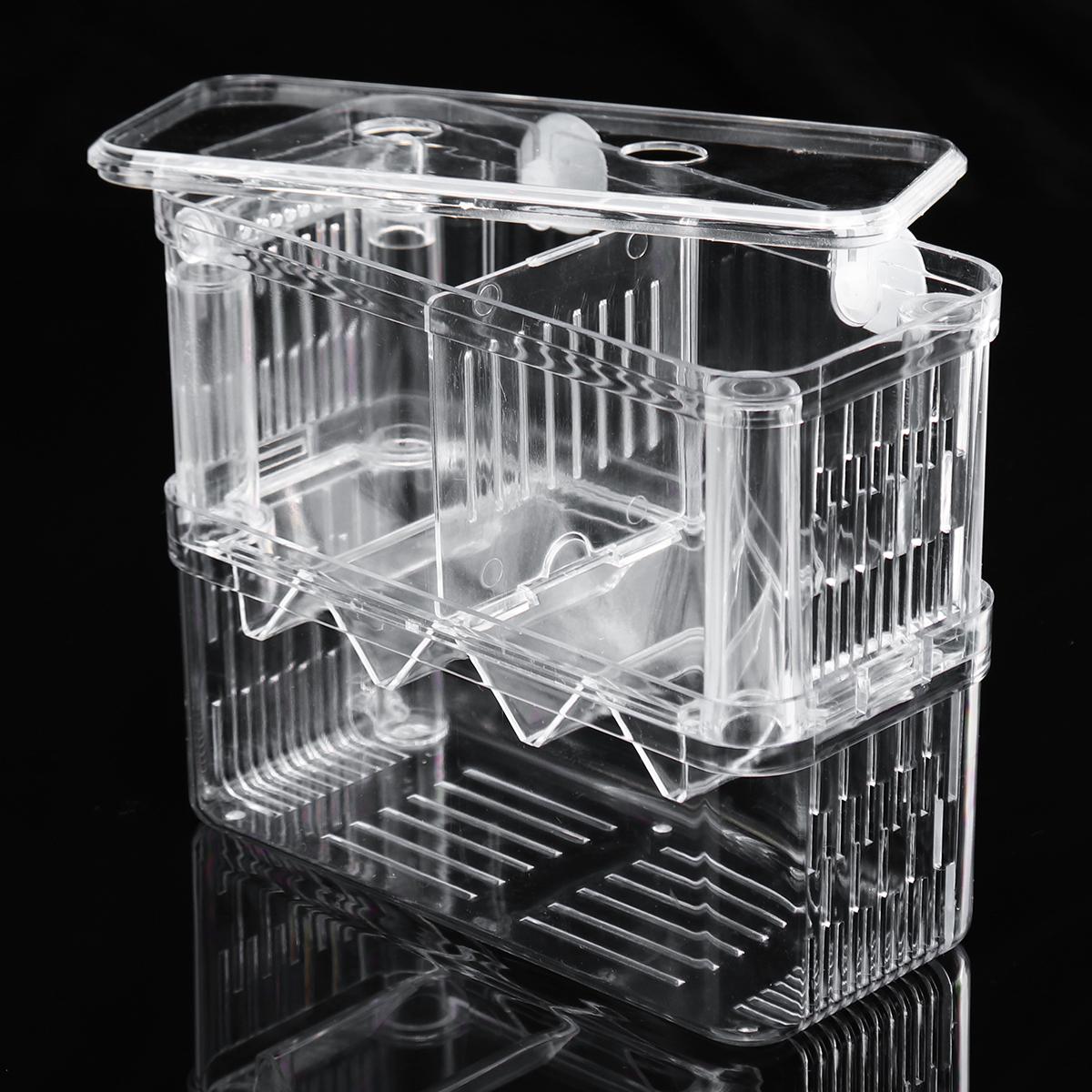 Aquarium Fish Tank Breeder Box Isolation Box Breeder Hatchery Incubator Transparent