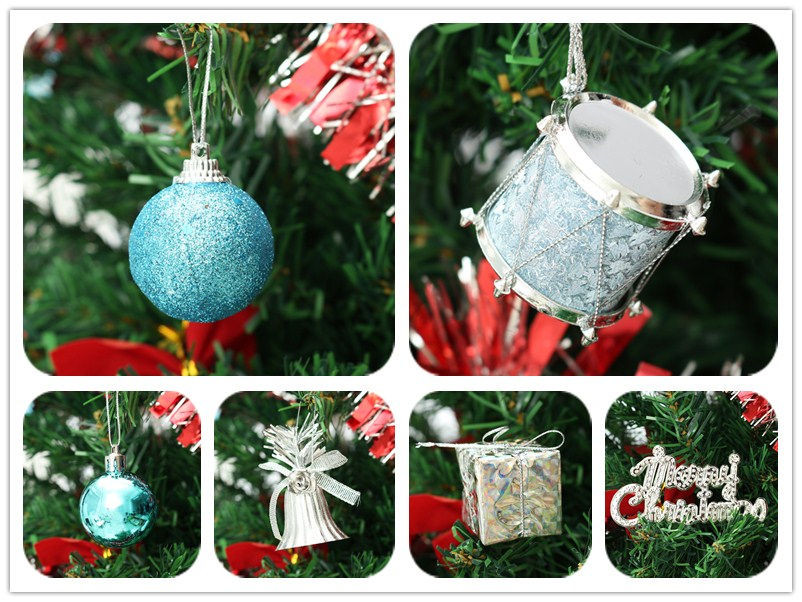 32pcs Pendant Christmas Tree Ornament Ball Bell Christmas Balls Xmas Tree Decor