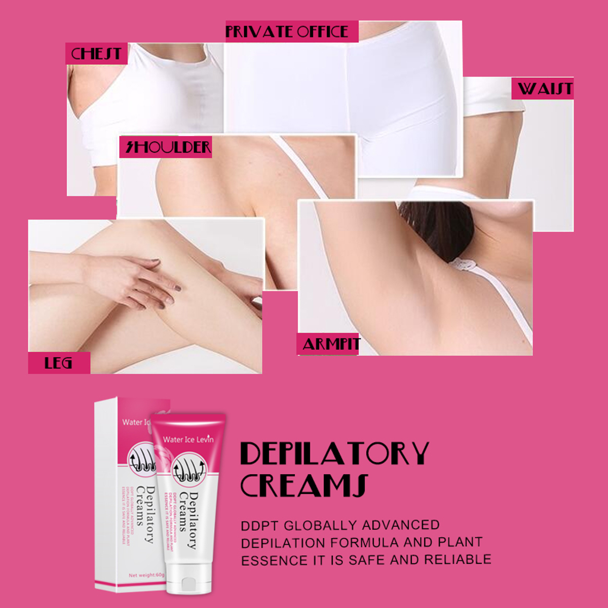 Water Ice Levin® Unisex Permanent Depilatory Hair Removal