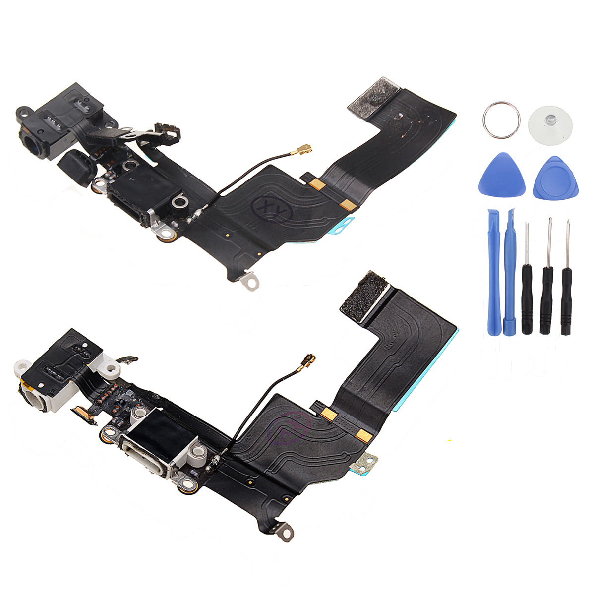 Charging Port Dock Connector Flex Cable Replacement + Repair Tools for iPhone 5S