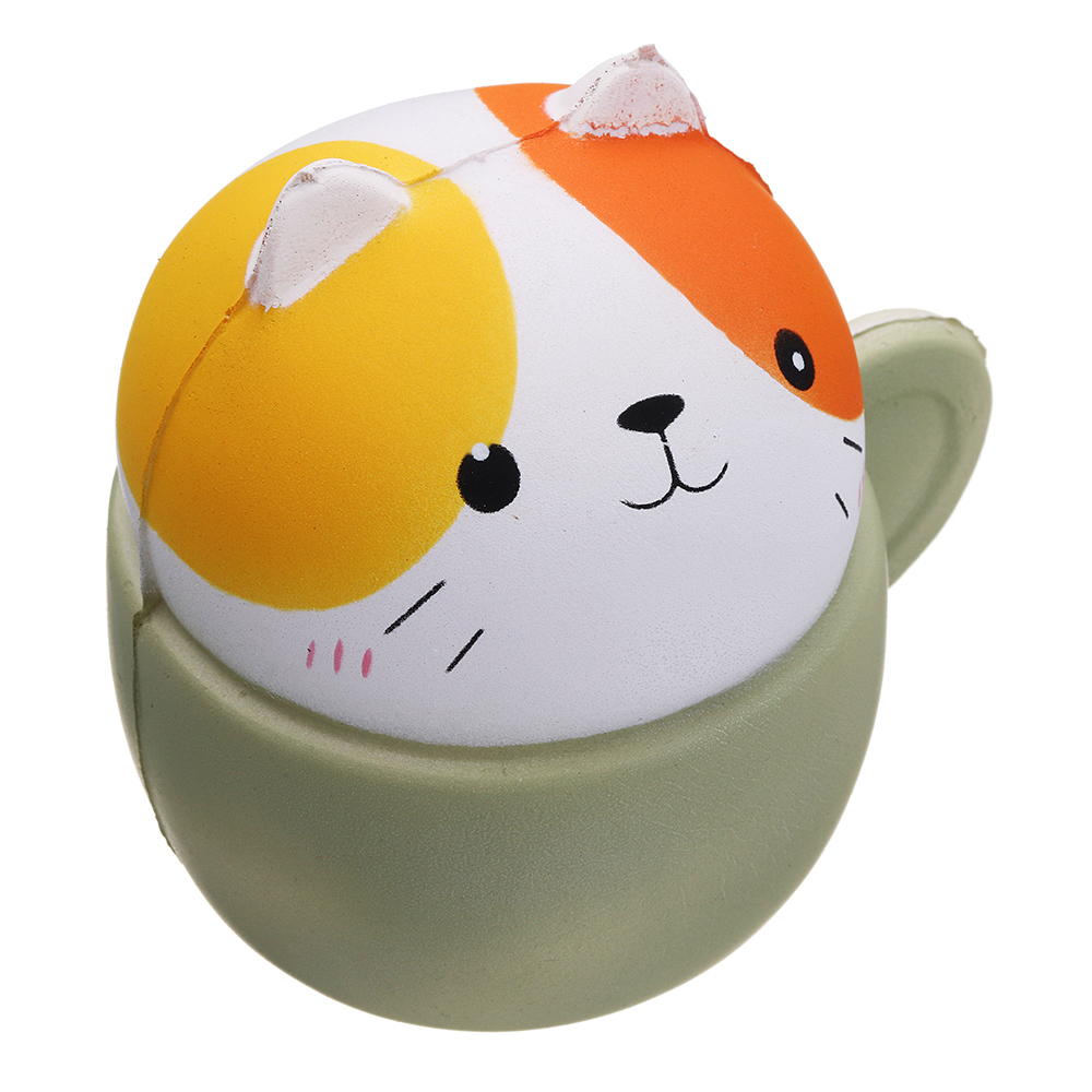 Cooland Squishy Cup Cat Kitten Pet Animal 10.5*9.6*8CM Soft Slow Rising With Packaging Collection Gift Toy
