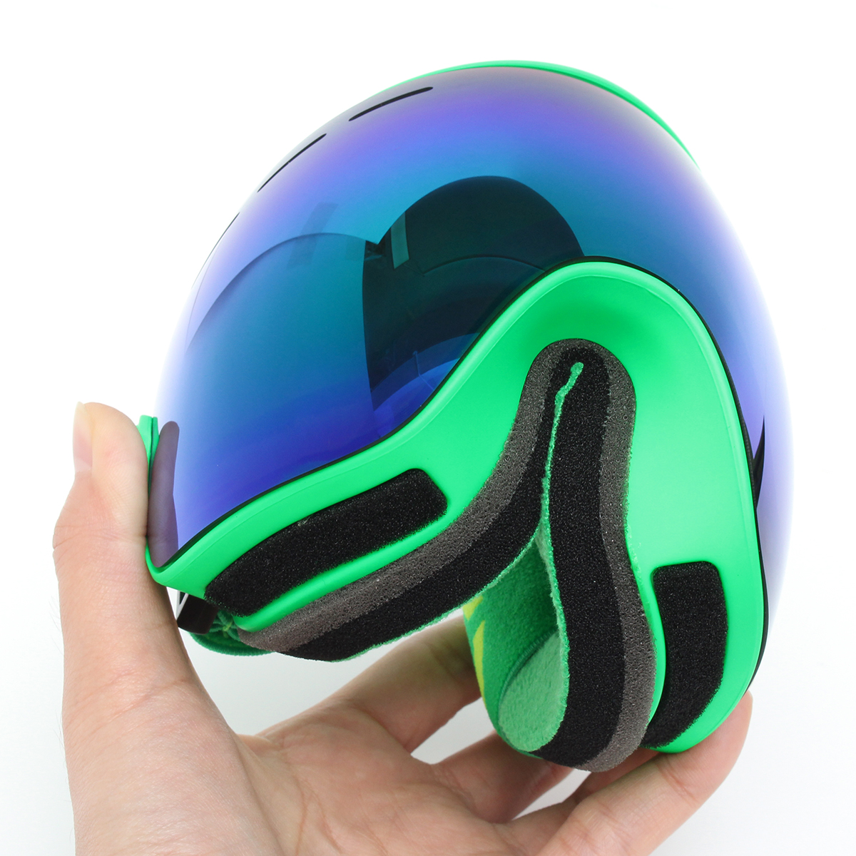Snowboard Ski Goggles Two Layers Lens Motorcycle UV Protection Anti-fog Green