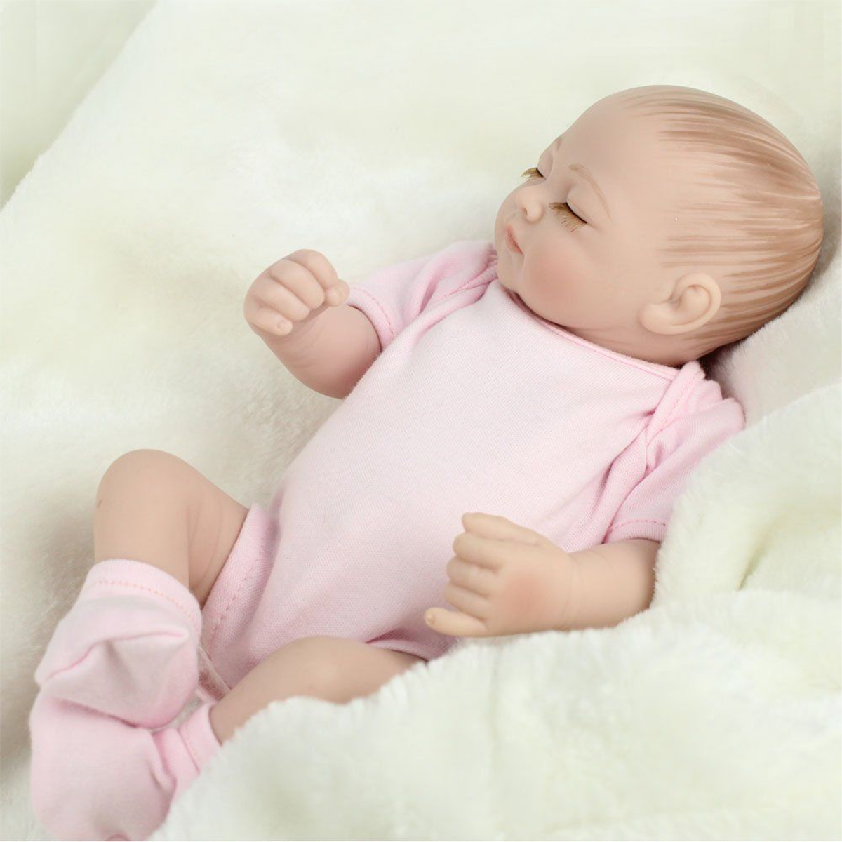 2Pcs Twins Reborn Baby Doll Silicone Handmade Lifelike Baby Play House Bath Toy