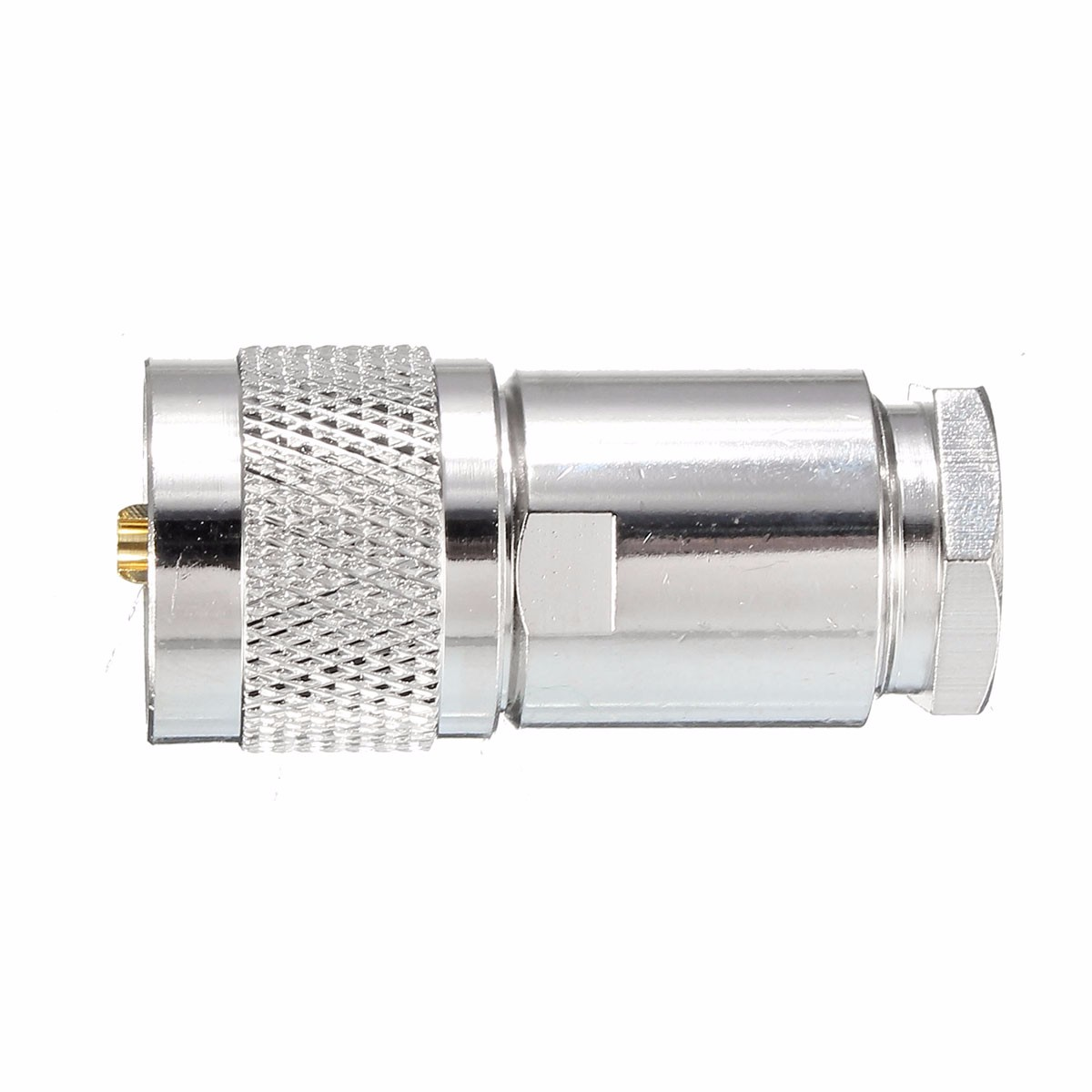1Pc UHF Male PL259 Clamp Vers RG8 RG165 LMR400 Cable RF Connector Adapter