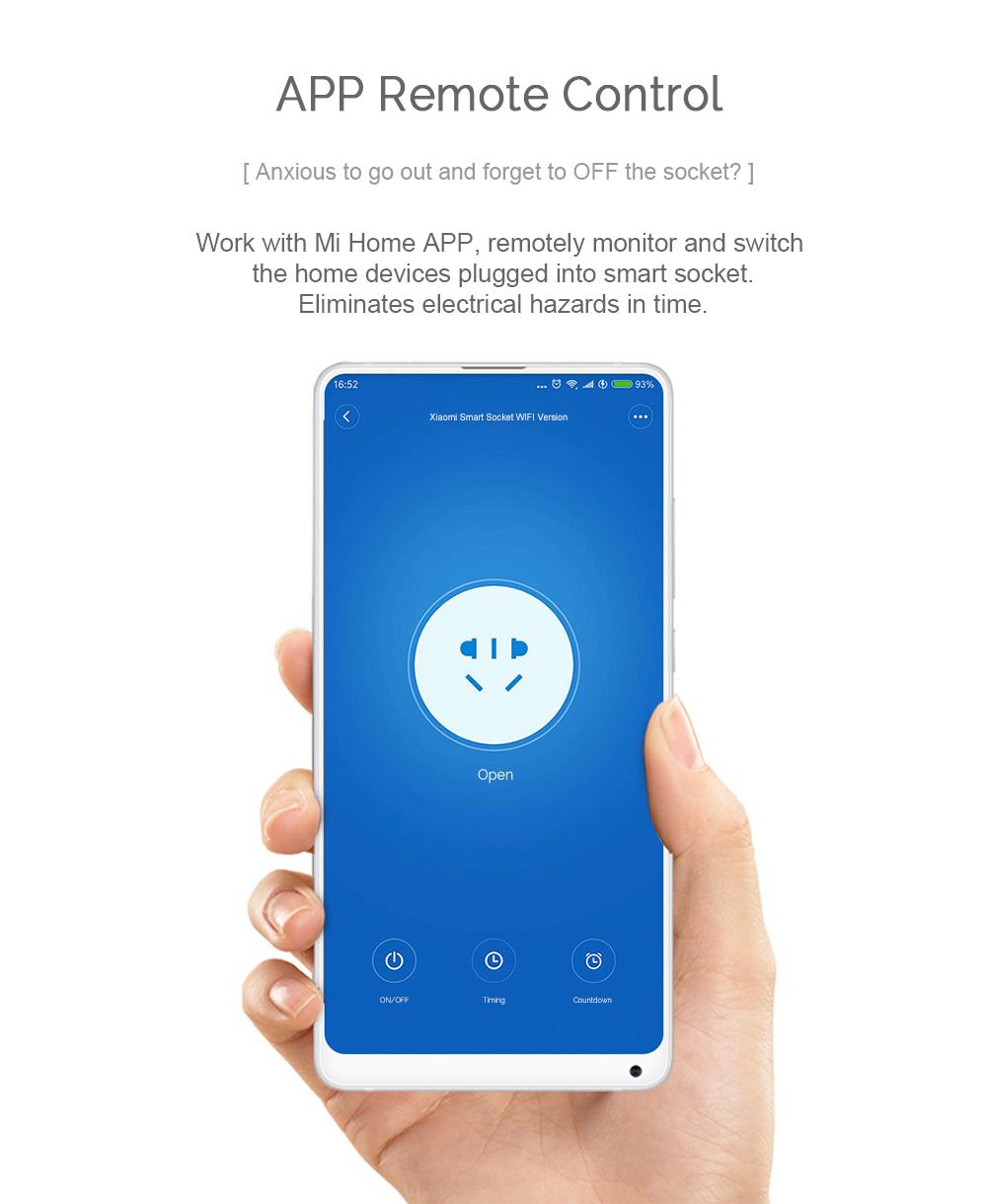 New Arrival Original Xiaomi Mijia WIFI Version Smart Socket Smart Home Switch Work With Xiaomi Multifunctional Gateway
