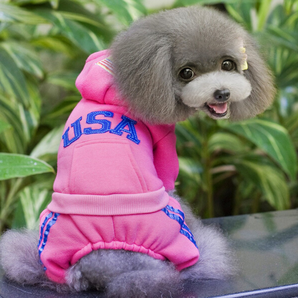 Pet Puppy Dog Clothes Winter Warm Jacket Coat Clothes Apparel Dog Clothes Hoodie Sweater Costumes