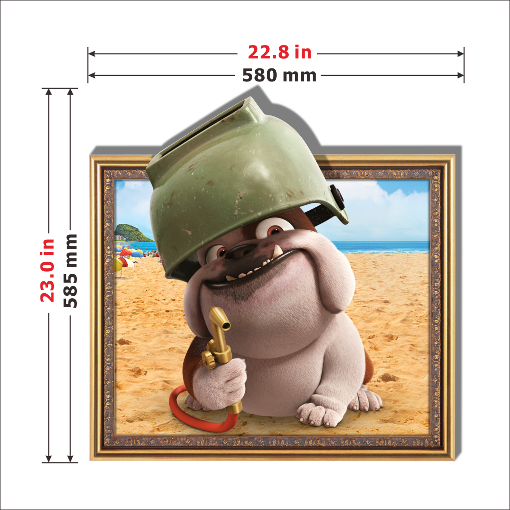 3D Baby Kids Room Cartoon Lovely Foolish Dog Wall Decals Removable Fun Paper Stickers Art DIY Gift Decoration