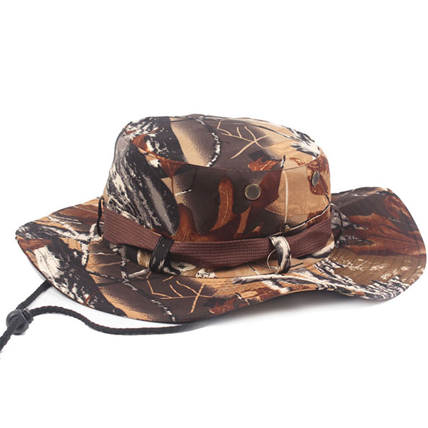 Mens Camouflage Wide Birm Outdoor Fisherman Hats Military Tactical Fishing Visors Breathable Cap
