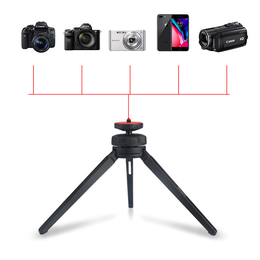 Kingma 1/4 Inch Thread Mini Desktop Stand Tripod Handheld Gimbal for GoPro Camera Phone
