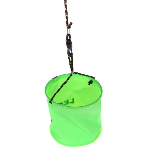 18 x 17cm EVA Foldable Garden Water Bucket with 6 meters Rope Belt Outdoor Fishing Camping